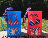 July 4th freezable beer mug, 4th of July, Patriotic, Gift,
