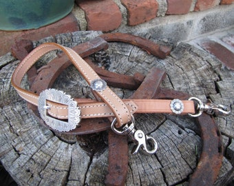 Antique Light Oil Leather Adjustible Wither Strap