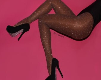 dazzling crystallized sheer tights by dbleudazzled