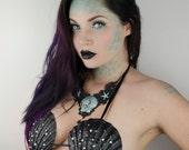 Goth mermaid shell bra