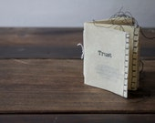 Zine: a Miniature Sewn Artist's Book about Privacy and Choice