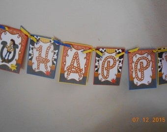 Toy Story Banner-Toy Story Birthday Banner-Toy Story Decorations-Birthday Banner-Child's Birthday Banner-Child's Banner-Rope Style Banner