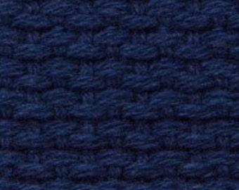 "1.25"" Cotton Webbing by the yard, Navy Blue Webbing, Key Fob Webbing, Purse Straps, Belting"