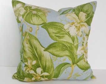 Tommy Bahama Tropical Blue and Green Decorative Pillow Cover,16 x 16 Throw Pillow Cushion