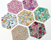 "1.5"" Liberty Tana Lawn hexagons for patchwork"