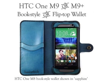 New HTC One M9, M9s or M9+ (M9 Plus) Leather Wallet / Case / Cover - Pre-order - no plastic - Free Inscription