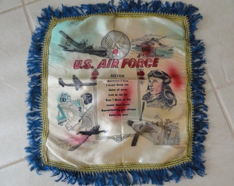 A818)  WWII US Air Force pillow cover for Sister