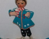 Vintage Ice Skater Holiday Figurine made in Japan