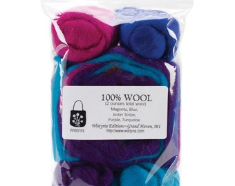 WISTYRIA EDITIONS-Wool Roving Jester Stripe