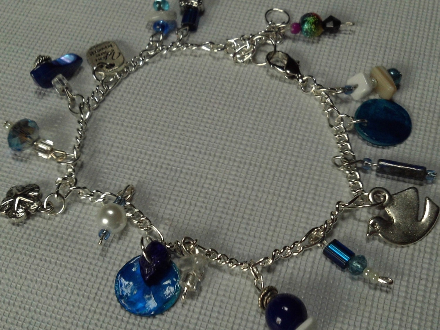 Sterling Silver and Ocean Blues Bracelet Summer Bracelets