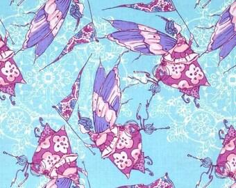 Free Spirit - Feather Flock by Tina Givens - Princess Feather - Aqua