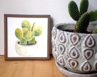 Cactus Watercolor Art Print