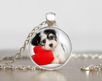 Havanese Dog Pendant Necklace Keychain Ornament