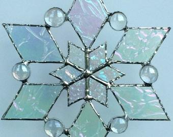 stained glass snowflake suncatcher (design 2C)