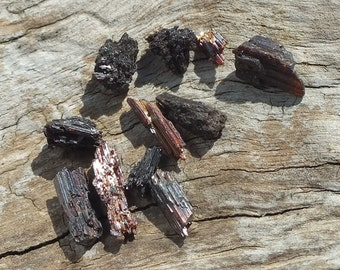 Red Rutile Crystals, x11, Terminated Complete Raw Rough RARE Minerals, 1.8g - 5-12mm ~ Dream Recall ~ Astral Travel ~ Stabilizing (23-13)