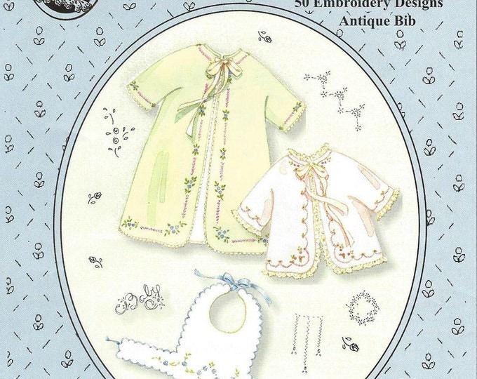 Baby's Sacque & Wrapper Pattern with 50 Embroidery Designs by The Old Fashioned Baby