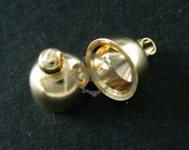 15pcs 8x9mm 14K light gold plated brass bail for DIY handcraft glass dome supplies 1534009