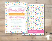 CUSTOMIZABLE INVITATION -- Rainbow Sprinkles Party Collection -- Mirabelle Creations