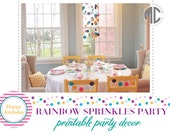 PRINTABLE PARTY COLLECTION -- Rainbow Sprinkles Party Collection -- Mirabelle Creations