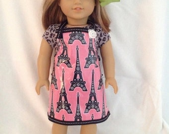 "American Girl Doll Paris Apron, 18"" Doll apron"