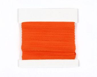 Elastic, 1/4th inch flat elastic for DIY Making Baby Headbands, skinny elastic - 5 or 10 yard bundles - Orange