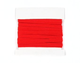 Christmas 1/4th inch flat elastic, Elastic for Making Baby Headbands, skinny elastic - 5 or 10 yard bundles - Red