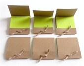 kraft matchbook note pads plain brown kraft mini jotter mini note book pocket note pads set of 8 handmade matchbook style notepads