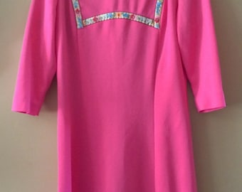 70's Vintage Polyester Women's Dress size small medium