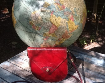 80's FIOCCHI RED LEATHER Mini Crossbody Bag