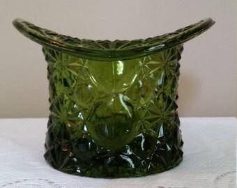 Vintage Olive Green Tophat Planter