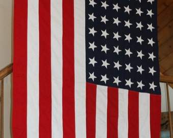 Large 48 Star Flag, Vintage American Flag, Old Flag, Old Glory, Fourth of July, Pledge of Allegiance, 9 by 5