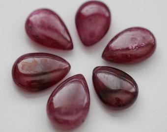 Ruby Smooth Pear Briolettes, 14 - 16 mm GM2901SP/16