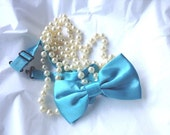 Full Size Malibu Blue Bow Tie...Adult or Older Boys, Teen...,Weddings,RingBearer, Formal Wear, RingBearer