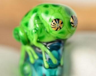 Lampwork pendant Chameleon Innocent