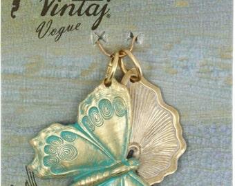 Vintaj Vogue Fluttering Wings assortment (2 pcs/pkg)