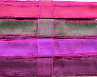Natural Silk Ribbon, Raw Silk Ribbon, K109