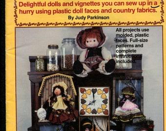 1980's Plaid 7724 Calico Dolls for Home Decor Calico Prints a Must
