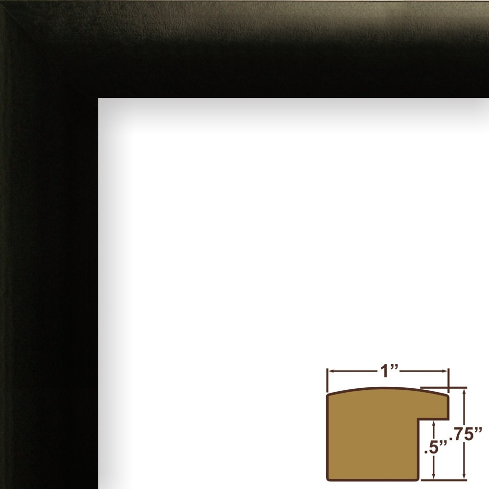 Craig Frames 12x12 Inch Black Picture Frame White Mat