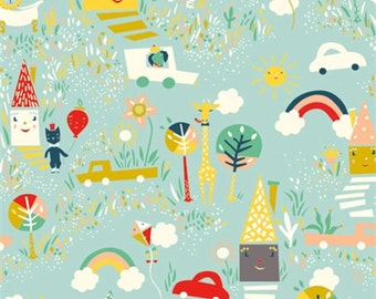 Happy Town - Happy Town - Emily Isabella for Birch Fabrics - 733-T - 1/2 Yard
