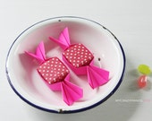 6 sweet origami magnets . wedding favors . bridal shower favors . origami candy .  paper candy . by myCrazyHands -pink dot