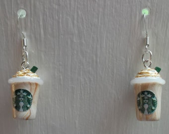 Starbucks Frappuccino Inspired Earrings - Caramel