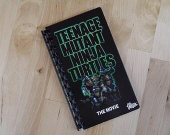 Teenage Mutant Ninja Turtles 1990 Movie Re-purposed VHS Cover Notebook Journal