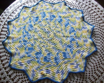 12 Points,Star,Crocheted,Afghan,Blanket,Baby,Photos,Gift,Cotton,Infant,Infants,Babies,Classroom,Stroller,Crib,Toddlers