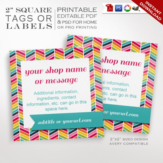 Editable chevron product tags labels printable rainbow label for Etsy shop policies template