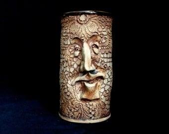Face Mug-porcelain lace imprint