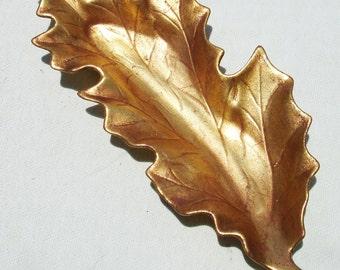 Vintage Freeman McFarlin Golden Leaf Dish - California Pottery