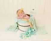 Newborn Photography Prop, Newborn Lace Wrap, Stretch Wrap, Newborn Layering Fabric, Newborn Photo Prop