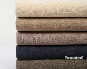 One Yard Light Weight Linen Gauze fabric, Linen Fabric/ Pure Linen/ Natural Fabric/ Transparent fabric Pre Washed Soft (QT460)
