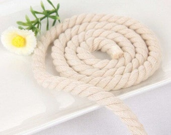 5 Yards Linen Cotton Rope Decorative Rope Cotton Cord 4mm,6mm,8mm,10mm,12mm,18mm,22mm Wide (T176)