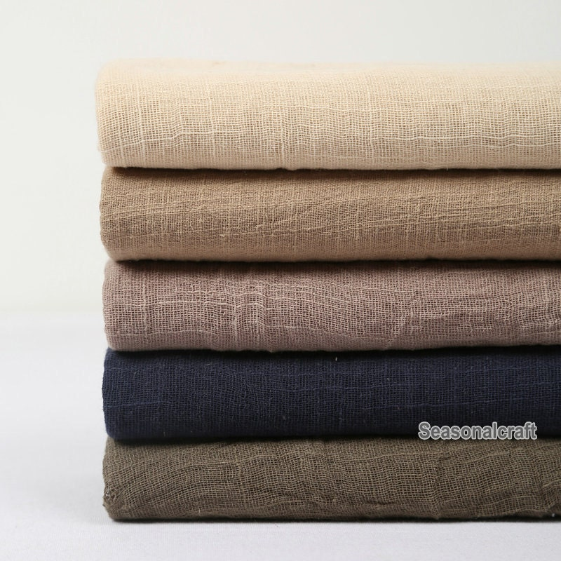 one yard light weight linen gauze fabric linen fabric pure linen natural fabric transparent fabric pre washed soft qt460 brown linen fabric lighting